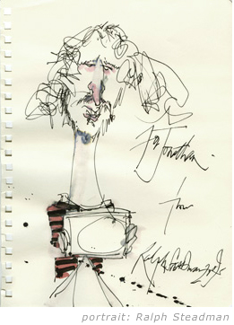 Jon Mortimer by Ralph Steadman