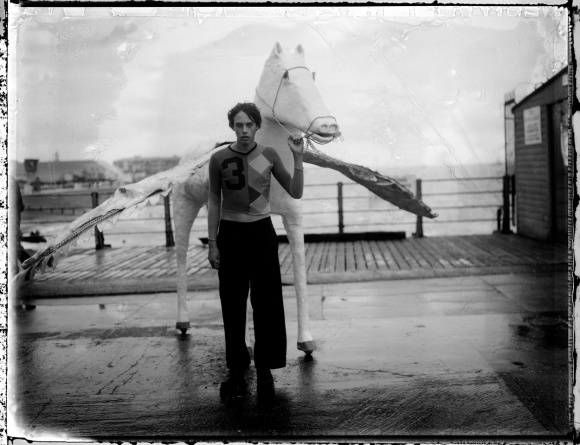 Sebastian and flying horse