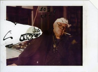 Ralph Steadman with Shark